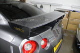 Nissan GT R35 NISMO Style Rear Spoiler full carbon fibre made - 4 Second Racing Club