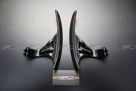Nissan GT R35 Carbon Fibre Racing Large Paddle Shifters Matte finished - 4 Second Racing Club