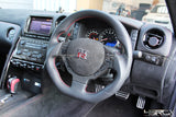 Nissan GT R35 dry carbon steering wheel centre control cover - 4 Second Racing Club