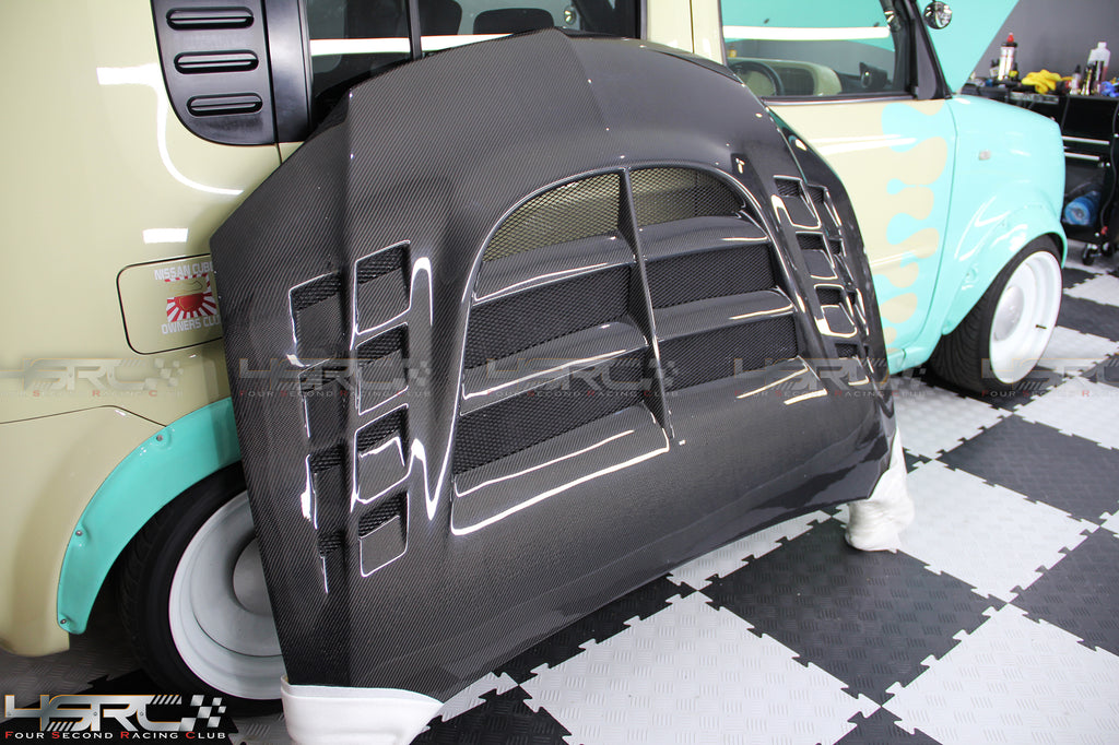 Mitsubishi Evolution Lancer Carbon Fibre Bonnet - 4 Second Racing Club