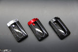 Nissan GT R35 Real Carbon Fibre luxury key fob cover, red/black/sliver - 4 Second Racing Club