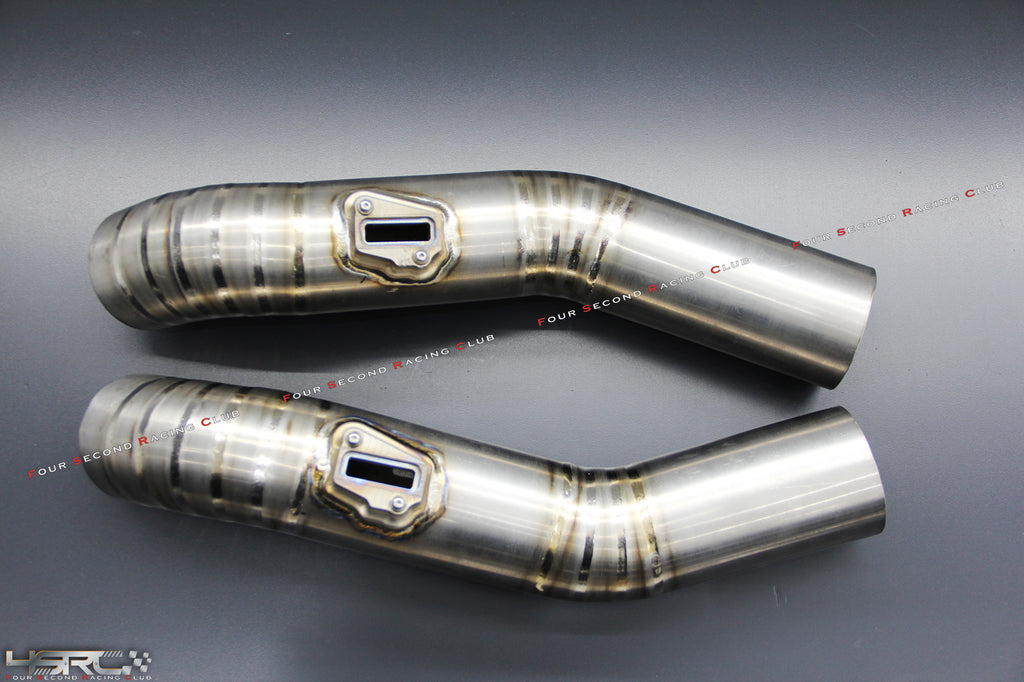 Nissan GT R35 full titanium MAF intake pipes - 4 Second Racing Club