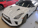 4SRC Design 2017-2019 EBA MY17 GTR35 Super Brakes Cooling Carbon Front Splitter - 4 Second Racing Club