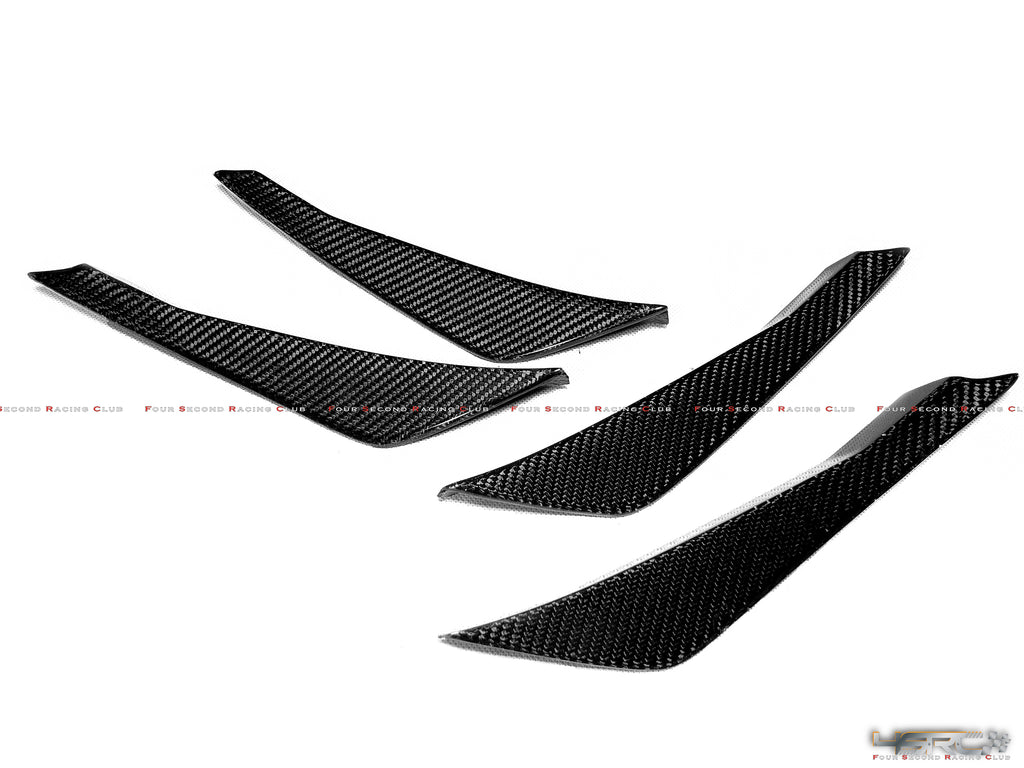 4SRC Design 2017-2019 MY17 EBA GTR35 dry carbon canards - 4 Second Racing Club