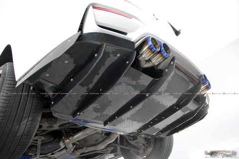 BMW F80 M3, F82 M4 full carbon rear diffuser - 4 Second Racing Club