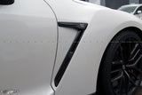 Nissan GT R35 Real Carbon Fibre Front Fender Vents - 4 Second Racing Club
