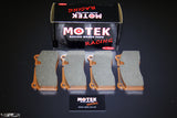 Motek Racing performance brake pads Nissan GTR35 and Audi R8 rear calipers - 4 Second Racing Club