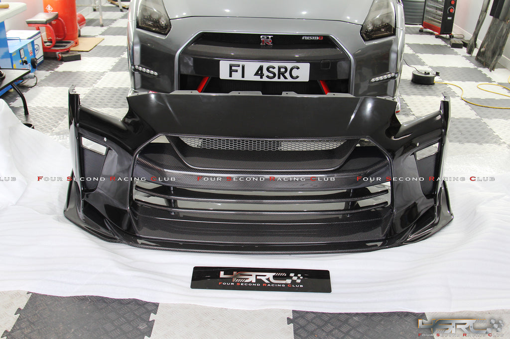 MY17 Nissan GTR35 TS style front bumper - 4 Second Racing Club