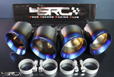 Nissan GT R35 full titanium exhaust tips - 4 Second Racing Club