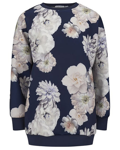 Harlem world floral sweater