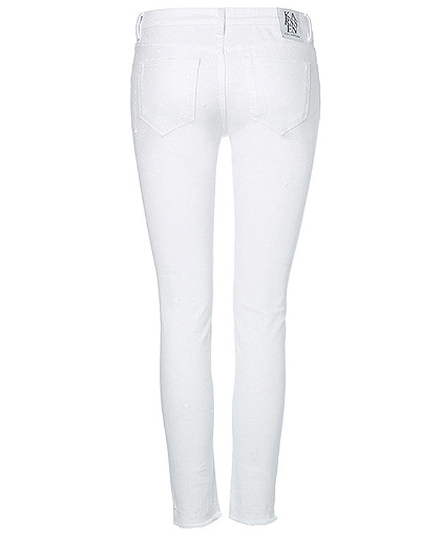 White nights cropped skinny jeans