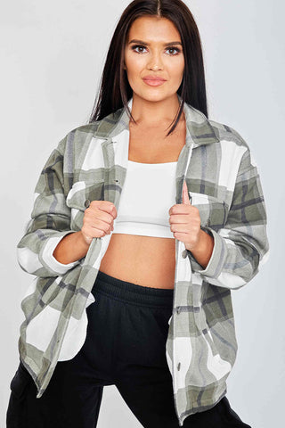 Oversized Checked Shacket