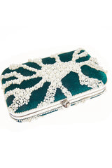 From St Xavier Nador Pearl Box Clutch Bag
