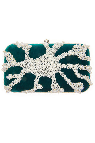 Nador Pearl Beaded Clutch Bag