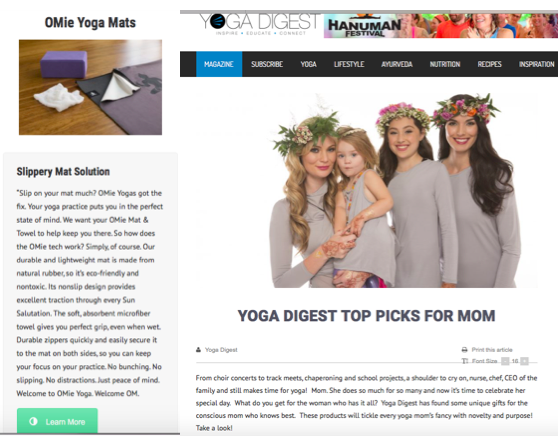 YOGA DIGEST TOP PICKS FOR MOM