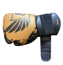 Load image into Gallery viewer, Black and Gold - Muay Thai Gloves