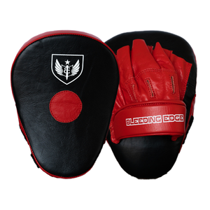 Curved Punching Mitts - Red/Black