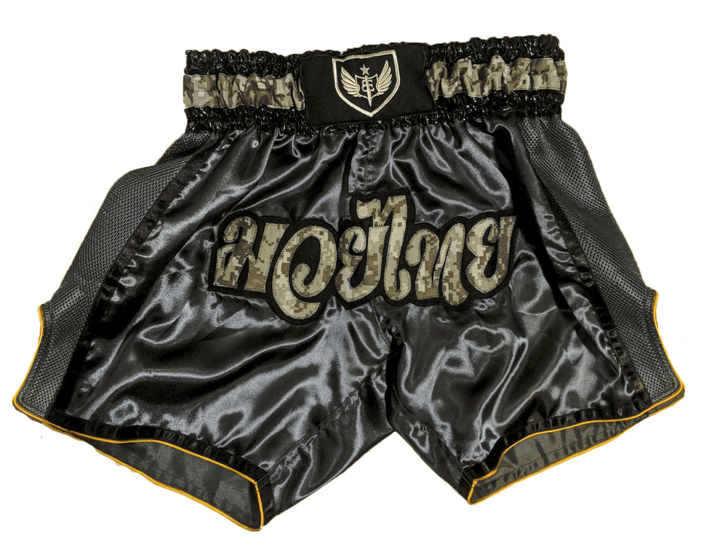 Muay Thai Shorts - Gunmetal/Digicam