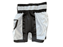 Load image into Gallery viewer, Muay Thai Shorts - White/Black