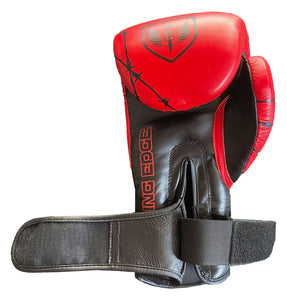 Bleeding Edge - War Hammer Red and Black- Muay Thai Gloves