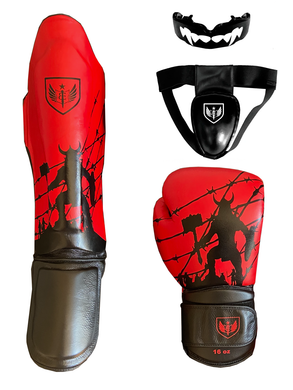 Bleeding Edge - War Hammer Black and Red - Basic Plus Package - Muay Thai Gear