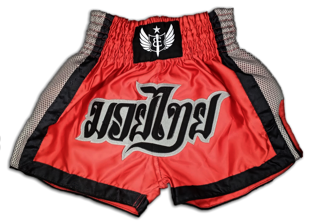 Muay Thai Shorts - Red/Grey/Black