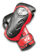 Load image into Gallery viewer, Saw Tooth - Muay Thai Boxing Gloves - Red Black