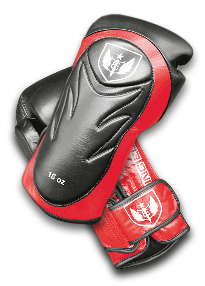 Saw Tooth - Muay Thai Boxing Gloves - Red Black
