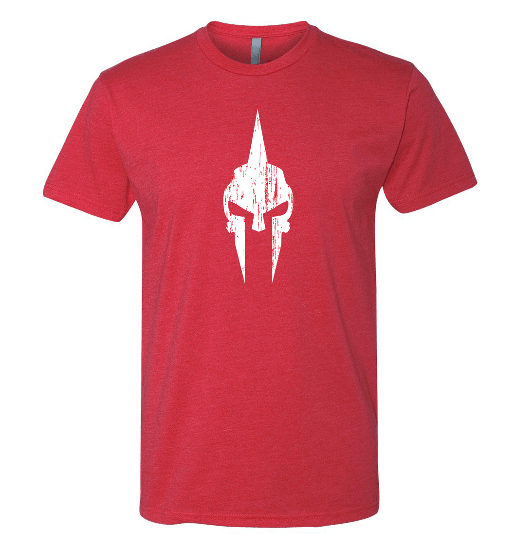 Spartan Skull Shirt - Red/White