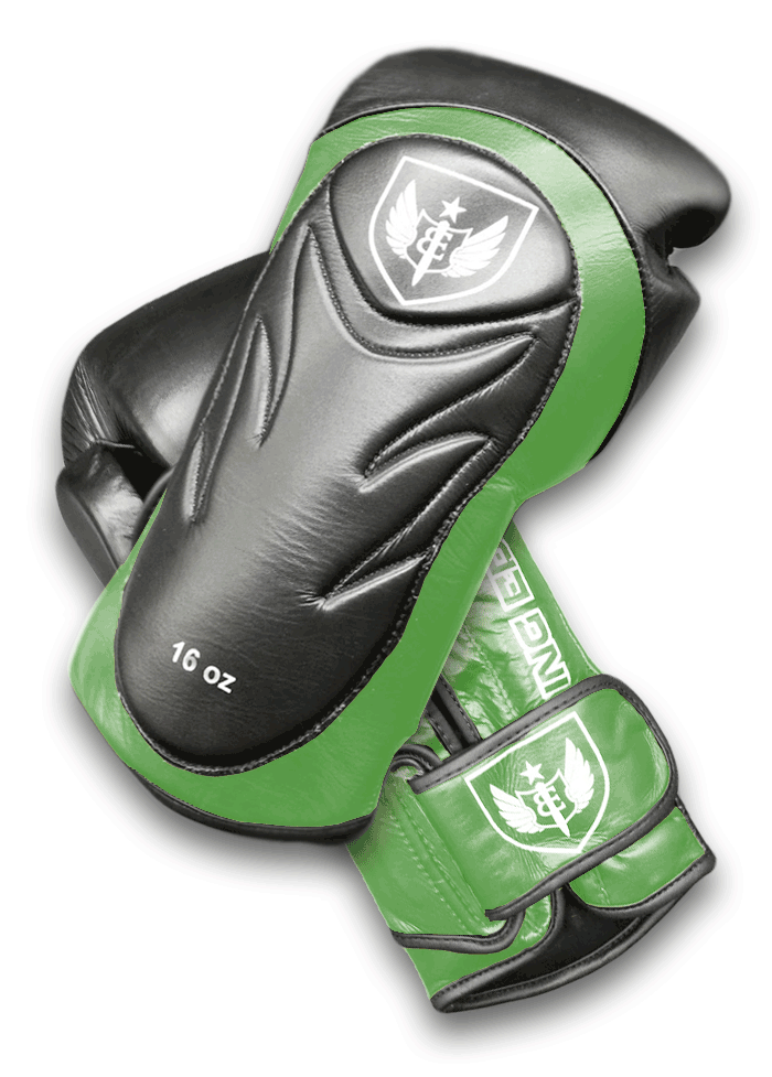 Saw Tooth - Muay Thai Boxing Gloves -  Black and Green