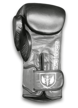 Load image into Gallery viewer, Saw Tooth - Muay Thai Boxing Gloves  -  Black and Gray