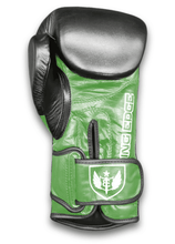 Load image into Gallery viewer, Saw Tooth - Muay Thai Boxing Gloves -  Black and Green
