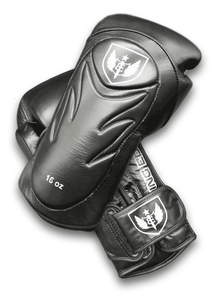 Saw Tooth - Muay Thai Boxing Gloves - Black
