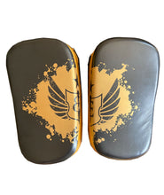 Load image into Gallery viewer, Premium Muay Thai Pads - Black and Gold