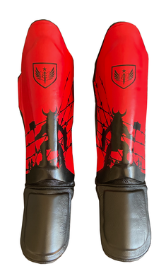 Bleeding Edge - War Hammer Muay Thai Shin Guards - Black and Red