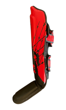 Load image into Gallery viewer, Bleeding Edge - War Hammer Muay Thai Shin Guards - Black and Red