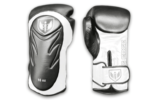 Saw Tooth - Muay Thai Boxing Gloves - Black and White