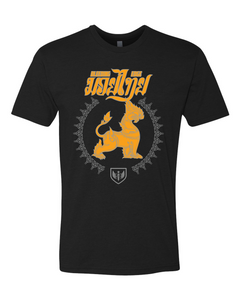 Muay Thai Lion Shirt - Yellow Logo