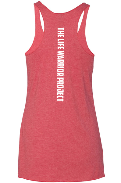 The Life Warrior Project Triblend Racerback Tank
