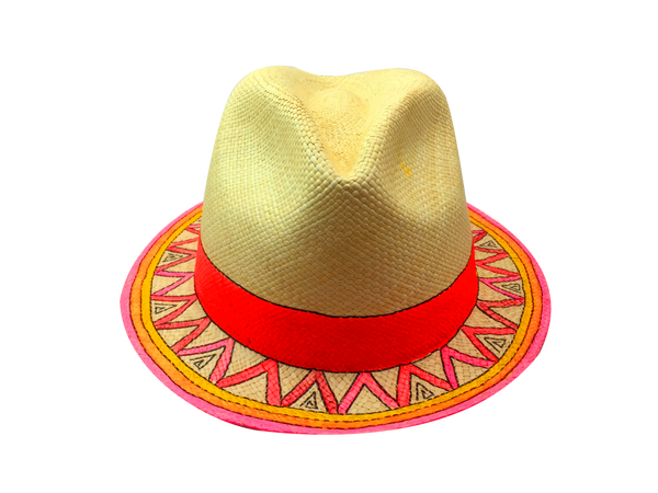 Neon Summer Panama Hat