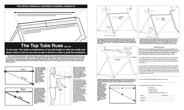 The Top Tube Ruse