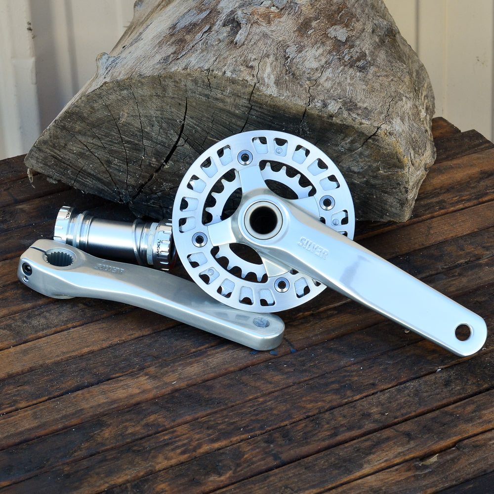 Crank - Silver  - 2 piece with 32/22 chainrings
