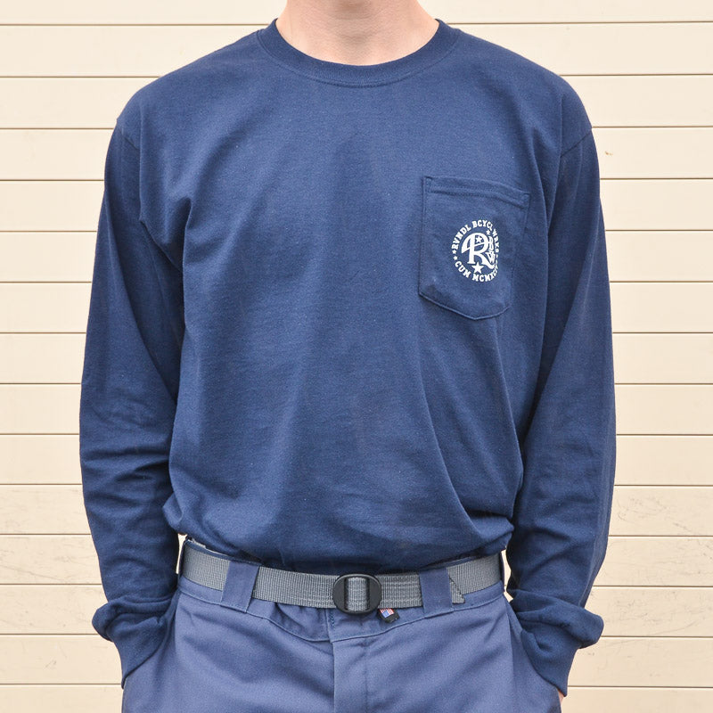 Rivendell Fish Longsleeve Shirt - Navy
