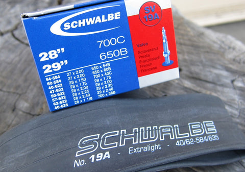 Inner Tube - 26in x 1.5-2.1in / 650B x 38-55mm - Schwalbe SV14A XXlight