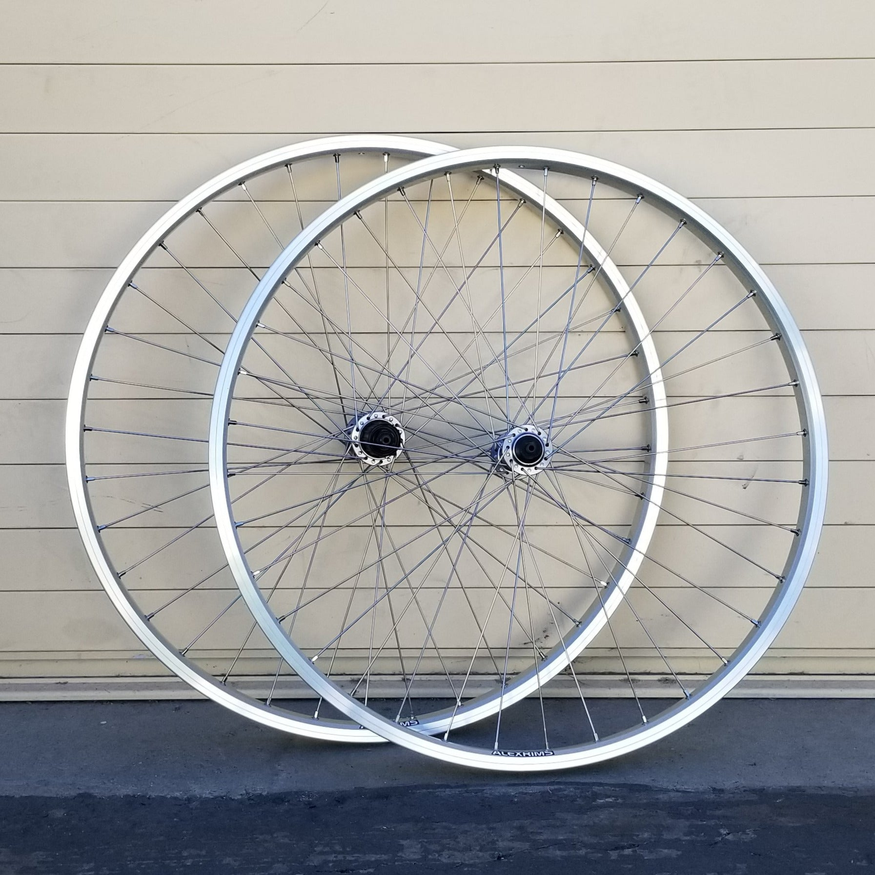 Wheelset - Velocity-Built Alex DM24 with Shimano Deore T610 hubs