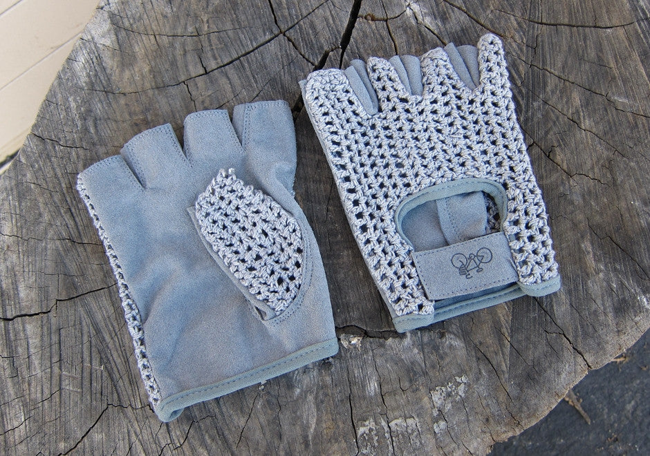 Thinny Riding Gloves - Fake Leather, Grey