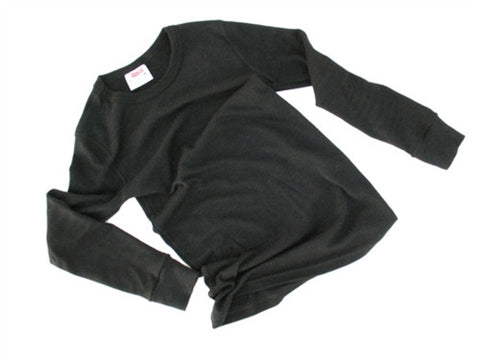 Aussie Wool LS Crewneck - Black