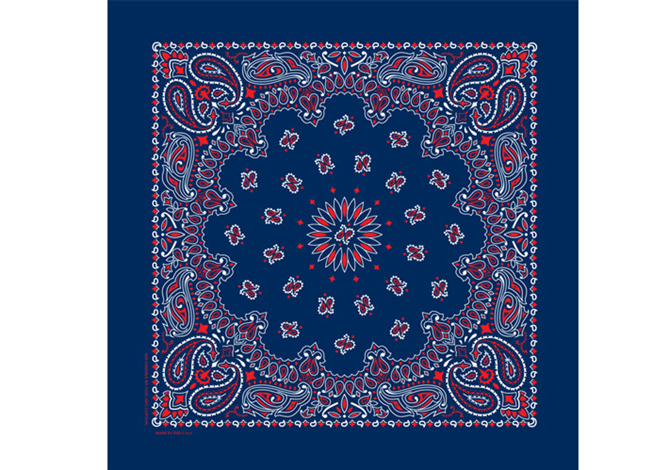Bandanna - Blue red white