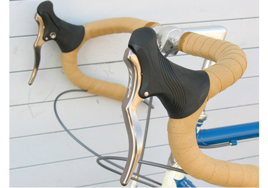 TRP RRL SR Brake Levers with Silver Levers and Black Hoods