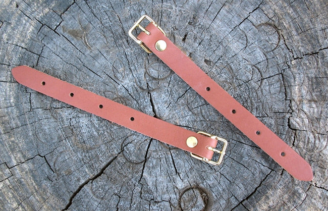 "Sackville leather strap, SHORT Buckle 7"" - each"